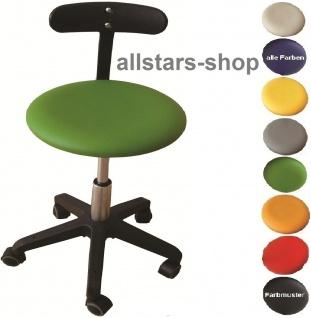"Allstars Bürostuhl ""Octopus Beta"" 42-55 cm Drehstuhl mit Rollen und PU-Beckenstütze grün"