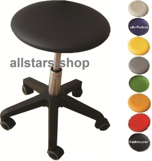 "Allstars Rollhocker ""Octopus Beta"" 42-55 cm Hocker Drehstuhl mit Rollen"