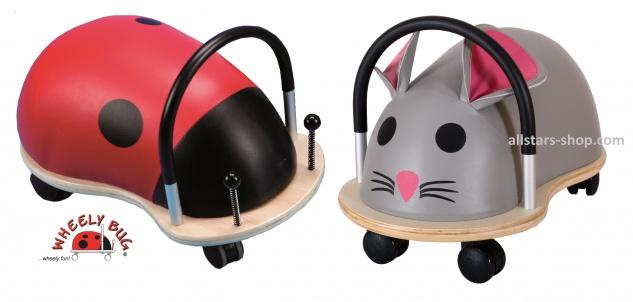 Wheely Bug Rutscher Marienkäfer und Maus groß Kleinkindrutscher mit 360 Grad Wendekreis Allstars