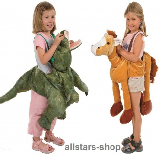Allstars Kinder-Kostüm Tierkostüme Pferd + Dino Faschingskostüme Schlupfkostüme Karneval