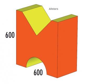 Bänfer Softbaustein Verbindungselement Rot 60 x 60 x 30 Maxi Schaumstoff-Baustein
