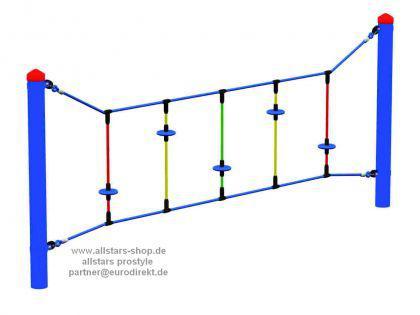 Huck Seil-Parcours Kleine Teller Kletteranlage Modul Kletternetz Mini-Parcours