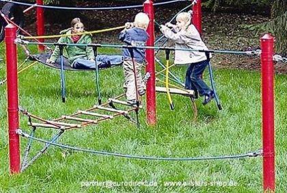 Huck Seil Parcours Seilparcours Modul Hangelseil Herkulesseil Aufhängung f.Robinie