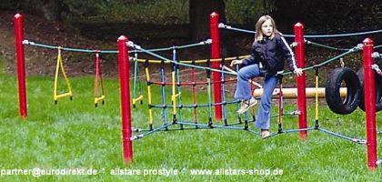 Huck Seil Parcours Seilparcours Modul Bogenseil Herkulesseil Aufhängungen