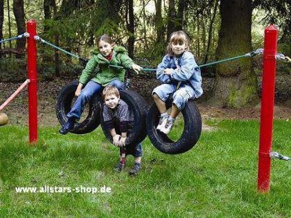 Huck Seil Parcours Seilparcours Modul Reifen Schaukelreifen Aufhängung f.Robinie