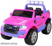 Actionbikes Kinderauto Ford Ranger Kinder-E-Auto 2-Sitzer 2 Kinder pink