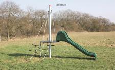 Huck Rutschenturm Mini Spielplatzanlage Rutsche Kletterturm Kleinkindrutsche