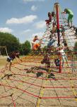 Huck Cheops-Pyramide Maxi Kletterturm Seilnetz-Pyramide Kletterpyramide + Erdanker