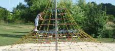 Huck Cheops-Pyramide Midi Seilnetz-Pyramide Kletterpyramide Kletterturm +Erdanker