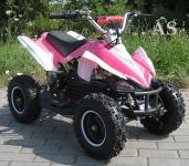 Allstars E-Quad Elektroquad Racer 800W pink-weiss Kinderquad