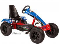Allstars Dino Cars Kettcar GoKart Stylez S124 Breitreifen rot-blau