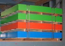 Beckmann HDPE-Platte 1.500 x 1.500 x 19 mm durchgefärbt 5 Platten 11, 25 m² orange