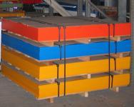 Beckmann HDPE-Platte 1.500 x 1.500 x 19 mm durchgefärbt 5 Platten 11, 25 m² rot