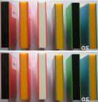 Beckmann HDPE-Sandwich-Platte 1.500 x 1.500 x 19 mm durchgefärbt 5 Platten 11, 25 m² orange/weiss/orange