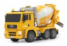 Jamara RC Auto Betonmischer MAN 1:20 Mischer gelb Baufahrzeug Funk