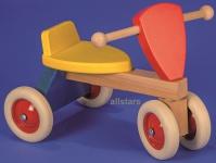 Allstars Rutschfahrzeug mit Lehne Rutscher Holz-Rutscher Laufrad Holz