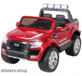 Actionbikes Kinderauto Ford Ranger Kinder-E-Auto 2-Sitzer 2 Kinder rot