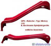 Beckmann Rutsche GFK Anbaurutsche Kinderrutsche L = 1, 90 Midi kurze Ohren