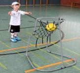 Dragon Toys Basketballständer Dunking mit Netz und Ständer Korbball für Kindergarten, Hort und Rollstuhlfahrer