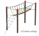 HUCK Vario-Element 6 Kletterbrücke für Robinie-Pfosten Kletternetz öffentlicher Spielplatz