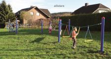 Huck Seil Parcours Seilparcours Modul Strickleitersprossen mit Aufhängungen