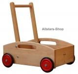 Schöllner Lauflernwagen Schiebekarre mit Schiebestange gebremst für Kindergarten