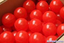 Bänfer Bällebad Therapiebälle Bälle 500 Stück 60 mm Therapie-Bälle im Sack rot