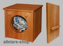 Schöllner Waschmaschine Waschautomat für Kinderküche Spielküche Star aus Holz mit Verbindungsbretter für Kindergarten