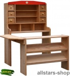 Schöllner Kaufladen Optimus 1 Kinderkaufladen 2-teilig mit Tresen für Kindergarten geeignet