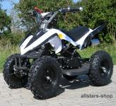 Actionbikes Kinderauto Poketquad Miniquad Racer 49 cc Motor-2-takt-Quad weiß-schwarz