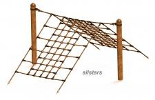 HUCK Vario-Element 19 Kletternetz für Robinie-Pfosten öffentlicher Spielplatz