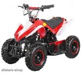 Actionbikes Kinderauto Poketquad Miniquad Racer 49 cc Motor-2-takt-Quad rot-weiß