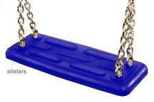 Beckmann Schaukelsitz Sicherheitssitz Typ 1 mit Kette V2A Sicherheitsschaukelsitz blau
