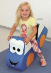 Allstars Softbaustein Rocking Car Schaukelwippe Wippe Schaumstoff Kindergarten