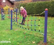 Huck Spielplatzgeräte Seilparcours Seil-Parcours Element: Kletternetz Netz Robinie