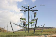 Huck Vogelnestbaum Laola Spielplatzanlage Vogelnest Kletternetz Kletterkamin