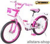Actionbikes Kinderfahrrad Kinder-Fahrrad - Daisy - 20 Zoll pink-weiß Bike Mädchen für Kindergarten