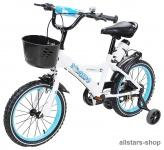 Actionbikes Kinderfahrrad Kinder-Fahrrad - Donaldo - 16 Zoll blau-weiß Bike Jungen Mädchen für Kindergarten