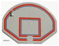 Beckmann Basketball Zielbrett Polyethylen 1, 20 x 0, 90 m für Basketballkorb