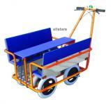KiTa Krippenwagen Klassik Mehrkindwagen für 6 Kids Mehrlingswagen + Klapptisch