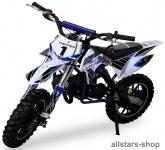 Actionbikes Kindermotorrad Kinder-Crossbike Poketbike Gazelle 49 cc Benzin-Motor blau