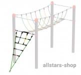 HUCK Vario-Element 7 Aufstiegshilfe für Robinie-Pfosten Kletternetz öffentlicher Spielplatz