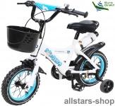 Actionbikes Kinderfahrrad Kinder-Fahrrad - Donaldo - 12 Zoll blau-weiß Bike Jungen Mädchen für Kindergarten