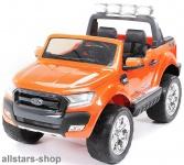 Actionbikes Kinderauto Ford Ranger Kinder-E-Auto 2-Sitzer 2 Kinder orange lackiert