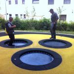 Hally-Gally Trampolin Circus geschlossene Sprungmatte Spielplatzgeräte In Ground