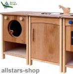 Schöllner Kinderküche Vario Single 2 Geräte mit Waschmaschine Spüle Kühlschrank Spielküche Erlenholz Pantry