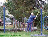 Huck Fun-Parcours 2010 Kletterspiel Schlaufenbrücke Kletteranlage Spiel-Parcours