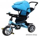 Actionbikes Kinderwagen Kinderkarre Kinder-Karre Kinder-Buggy Kinder-Dreirad blau