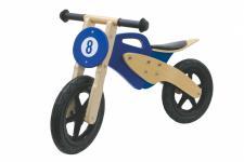 Jamara Laufrad blau Moto Holz Rad Bike Lauflernrad Kinderlaufrad Holzrad