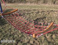 Huck Hängematte aus Herkulestau + VA-Knoten ohne Pfosten Herkulesseil Spielplatz